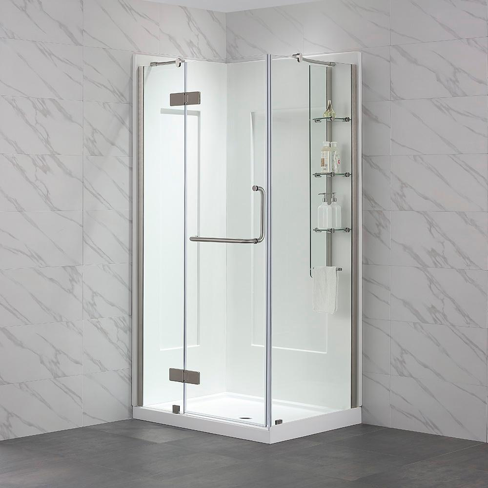 Ove Decors Dalia 32 In X 40 In X 79 In Shower Kit In Satin With