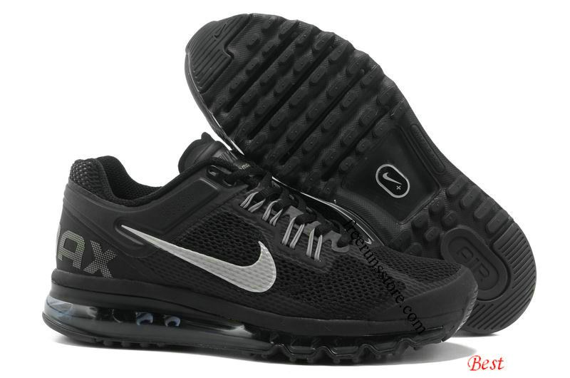 Nike Air Max 2013 Mens Black Metallic Silver 554886 001