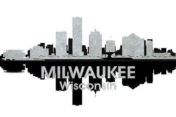 Milwaukee Wi 4 By Angelina Vick Milwaukee Wi Milwaukee City Silhouette