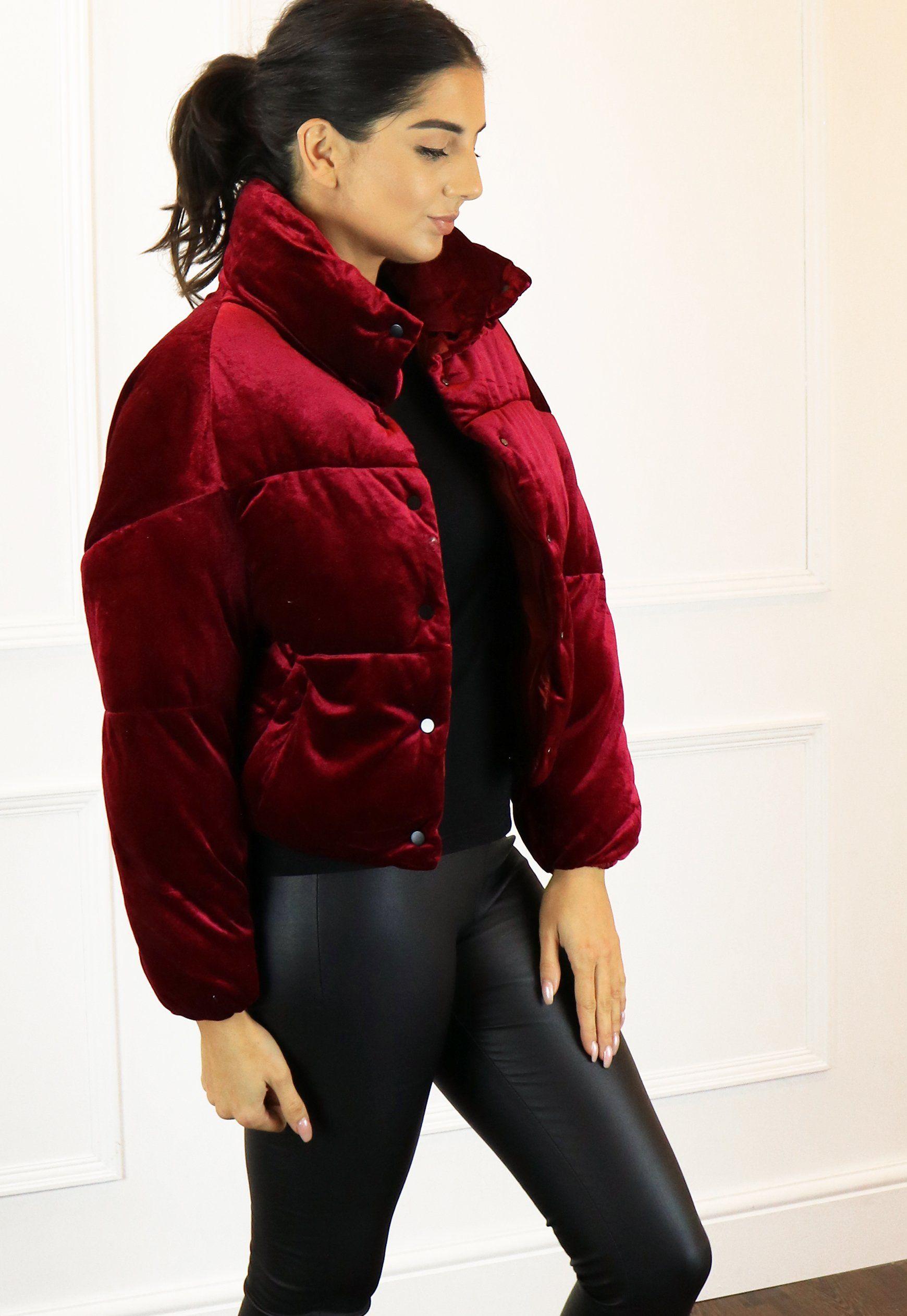 Women's Red Coats | Burgundy Puffer