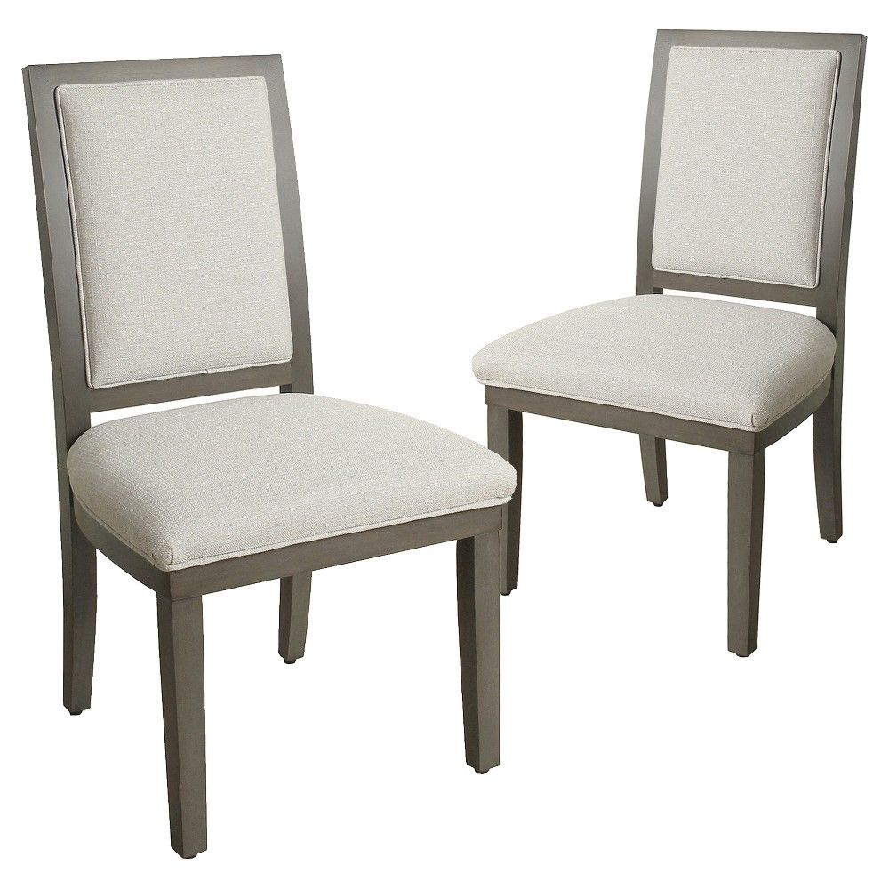 Morris Square Back Dining Chair Gray (Set of 2) Dining