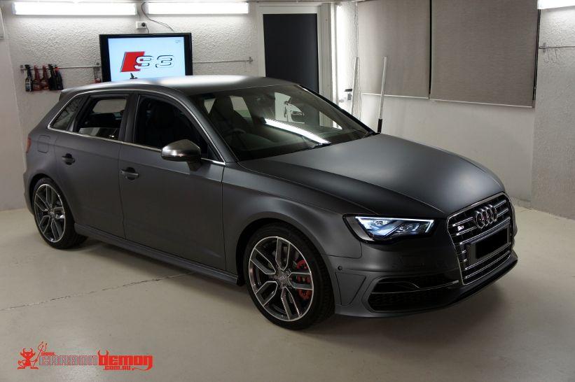 Audi S3 8v Matte Metallic Grey Vinyl Wrap Grey Black Audi