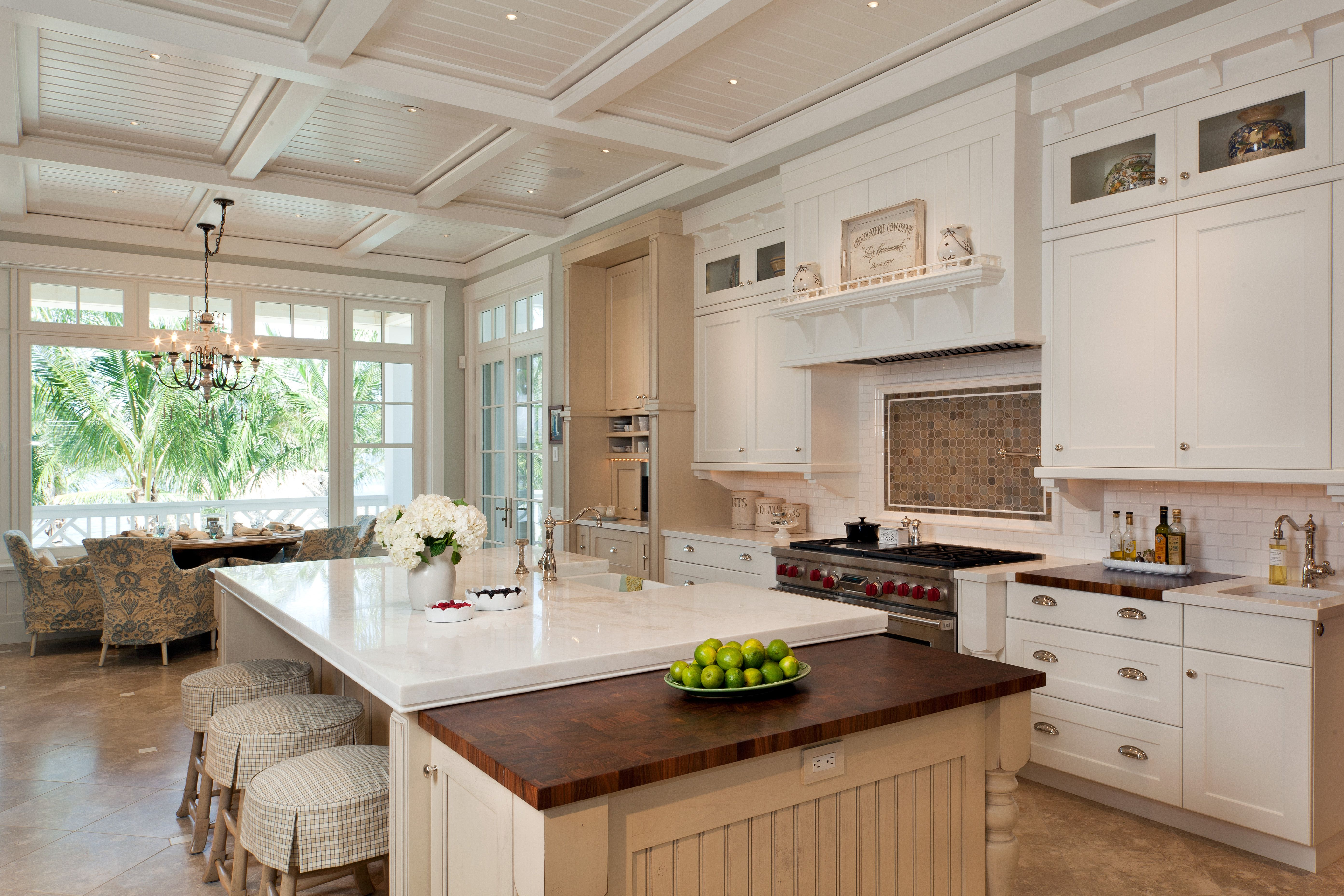 Beadboard Details And The Trim On The Ceiling Are Echoed In The Kitchen Cabinets And Wall M Kitchen Inspiration Design Kitchen Inspirations Traditional Kitchen