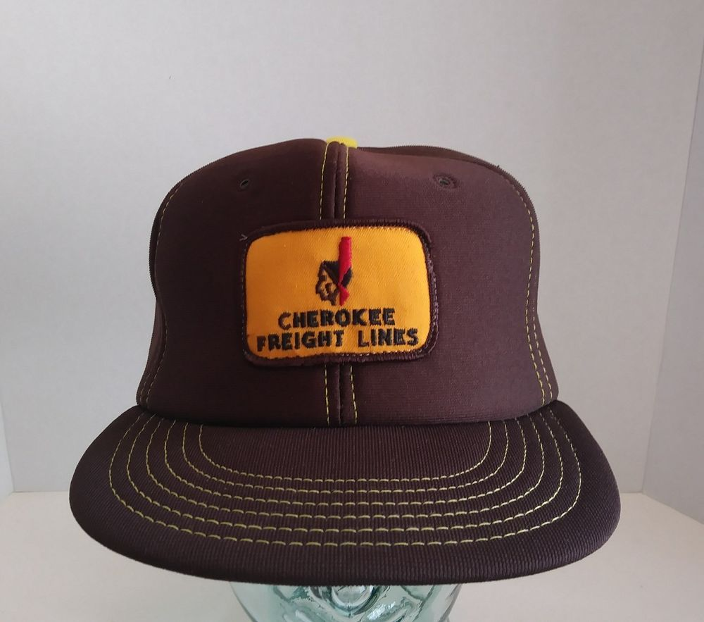 VTG Cherokee Freight Lines Hat Cap Embroidered Logo Patch SnapBack Made In  USA 8c2533cbb455