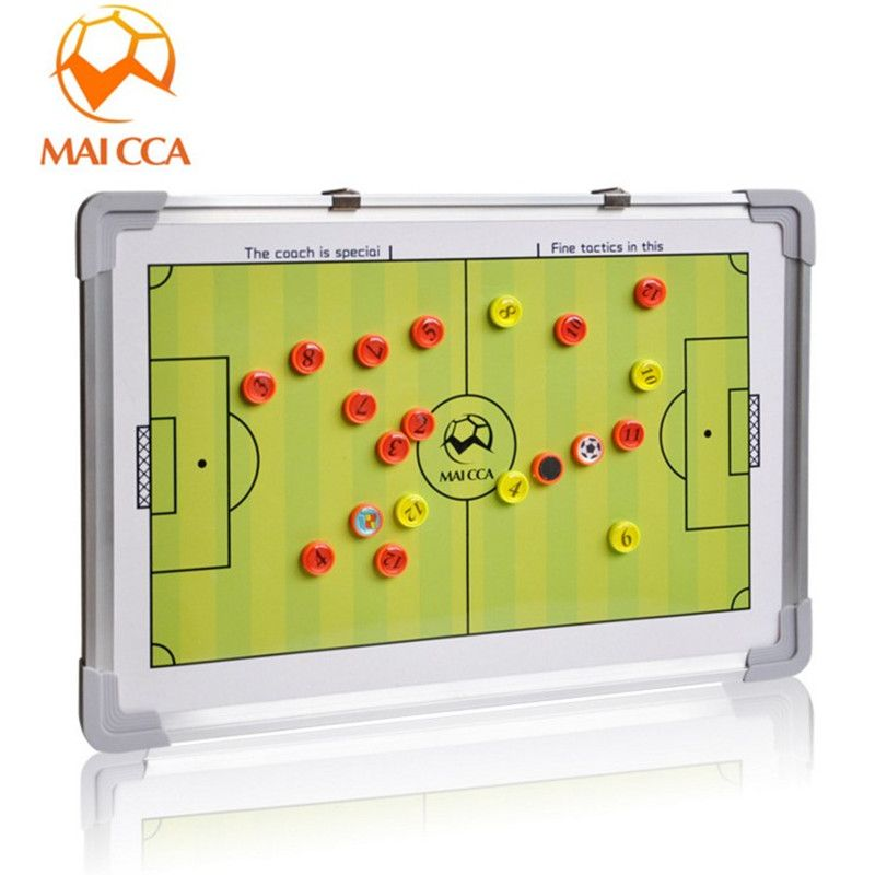 Maicca New Magnetic Professional Football Tactic Board Soccer Board Folding Plate Football Training Guidance B Professional Football Football Training Soccer