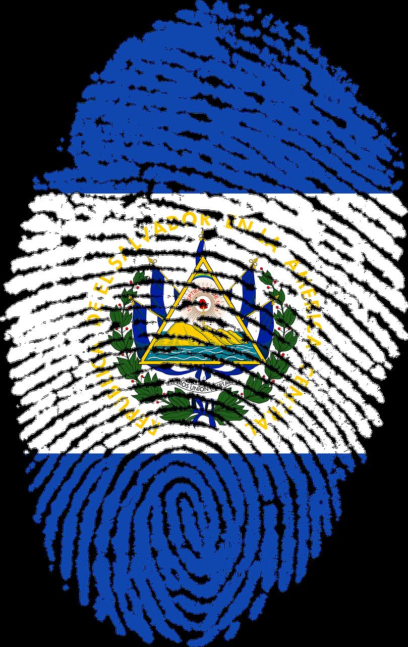 El Salvador Flag Fingerprint Transparent Image El Salvador Flag Flag Mexican Art