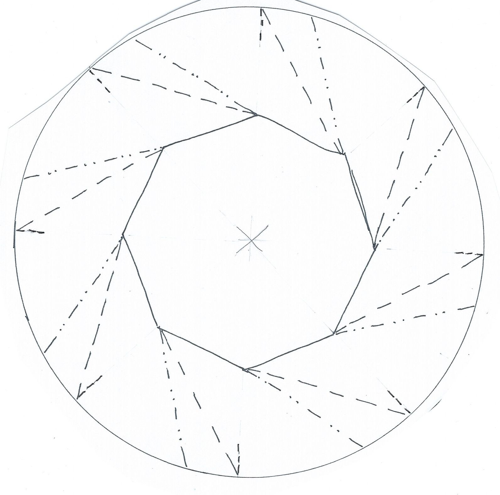 Crease Pattern For The Origami Bowl By Rachel Young This