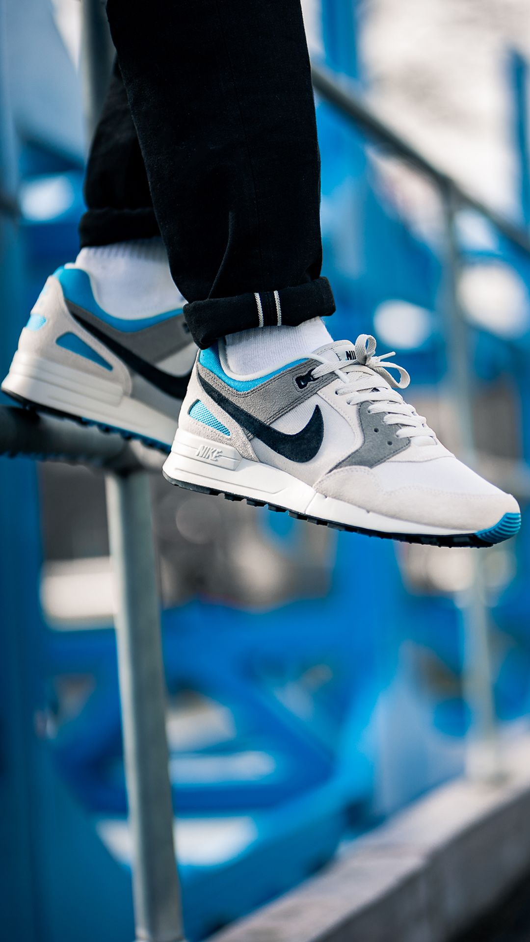 Nike Air Pegasus '89 SE (grey / blue) in 2019 | Sneakers Men