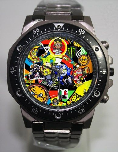 yamaha moto gp racing rossi vr46 the doctor design sport watch inasupply jewelry on artfire. Black Bedroom Furniture Sets. Home Design Ideas