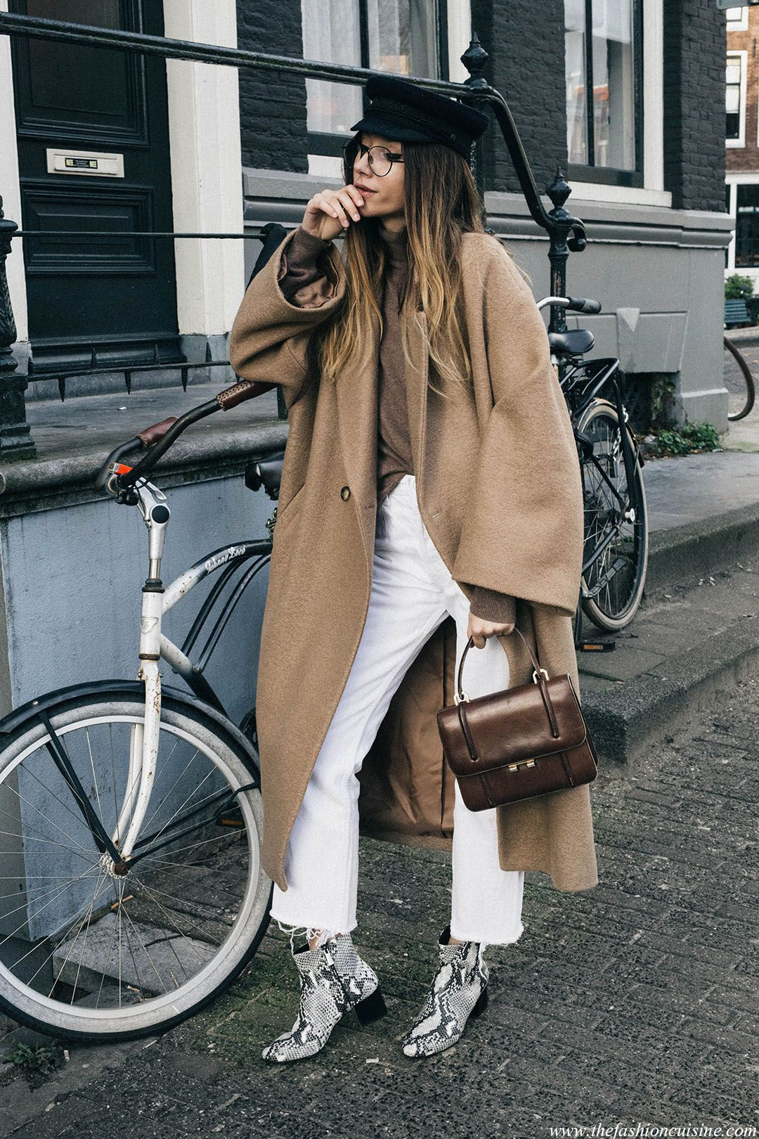 Smart Neutrals With Snakeskin Ankle Boots (The fashion