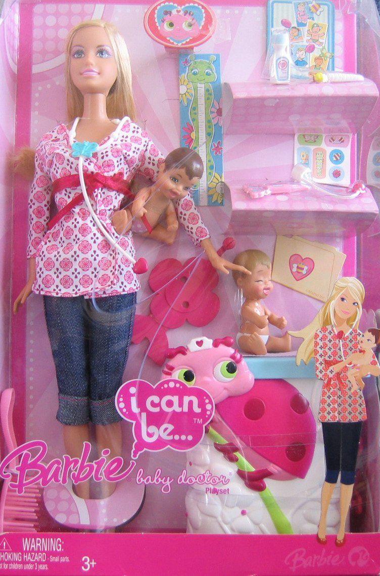 Barbie I Can Be A Baby Doctor Doll 2008 Original Barbie Doll