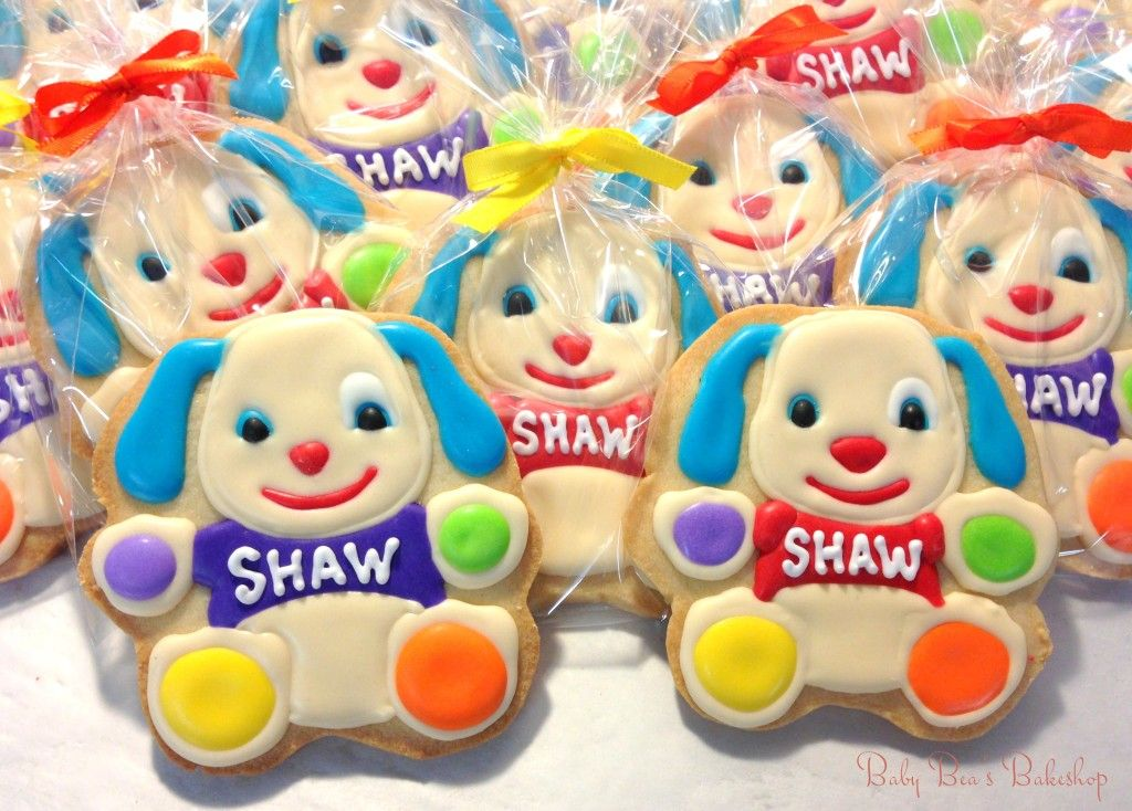 Baby Bea S Bakeshop Fisher Price Puppy Cookie Favors Baby Bea S Bakeshop Puppy Birthday Theme Puppy Birthday Parties Puppy Birthday