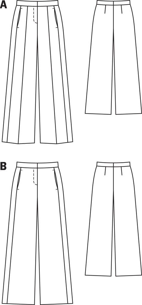 Wide Leg Pants With Front Seam 12 2013 103b Sewing