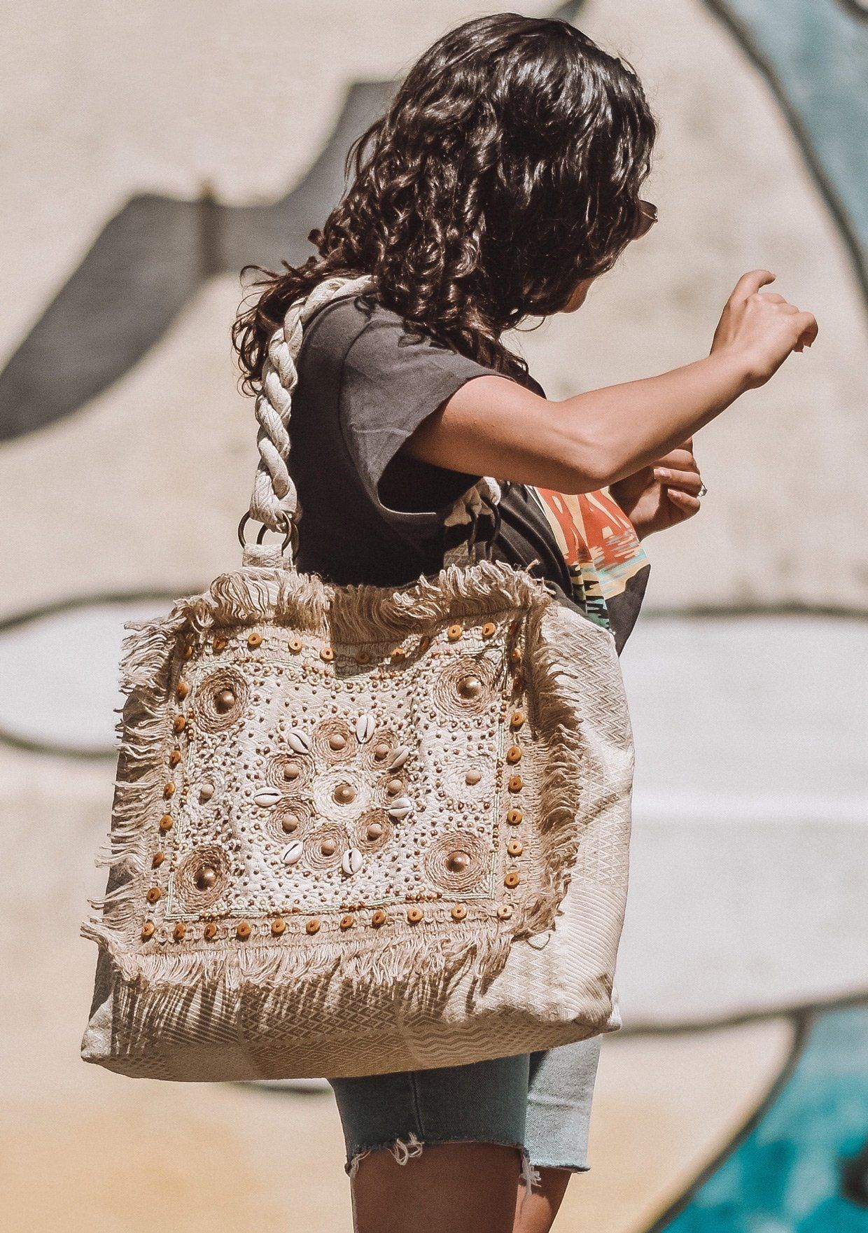 Vintage purse with cord. Handmade Details about  /Beaded handbags Festive embroidered bags