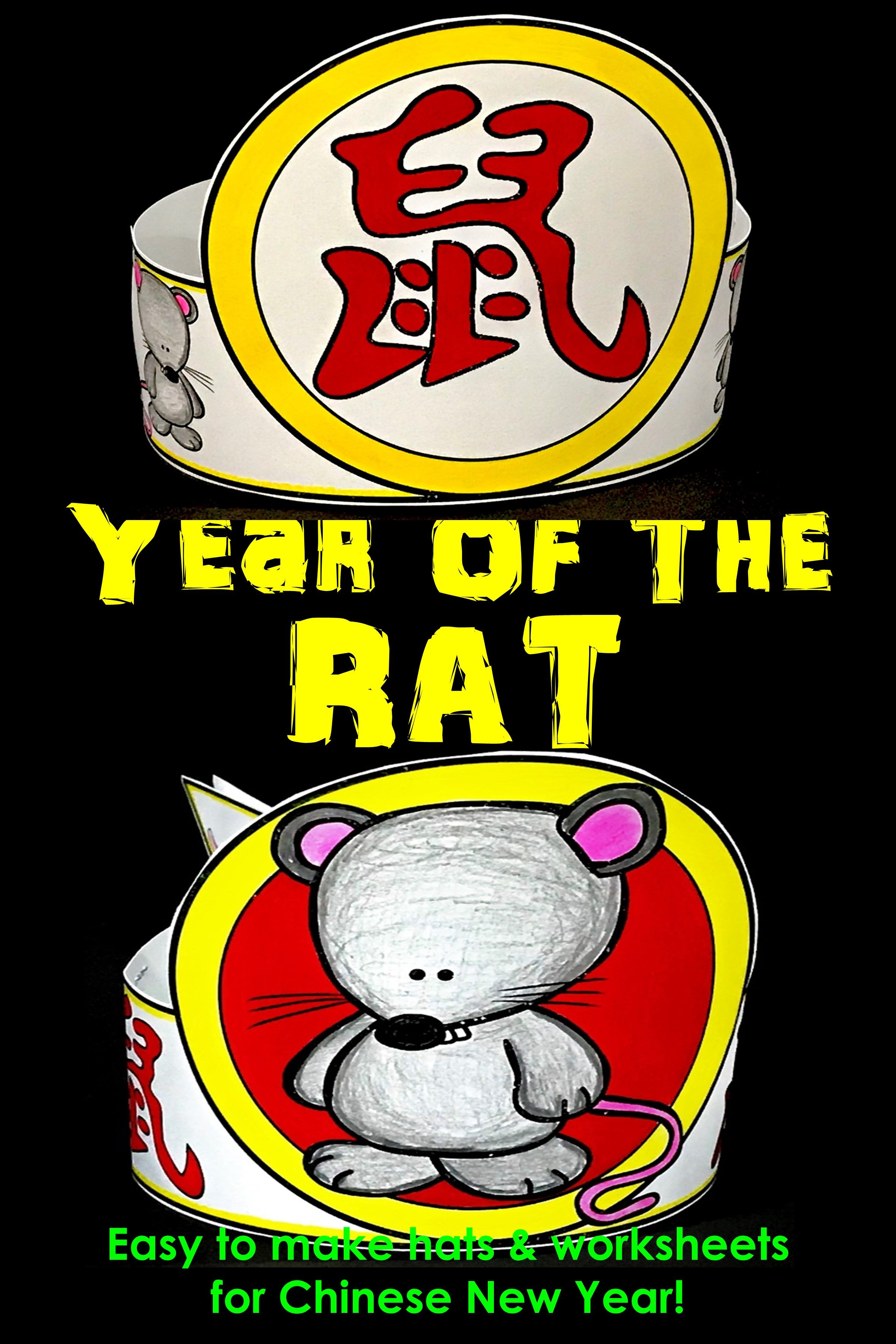 Chinese New Year Rat Hat Year Of The Rat Chinese New