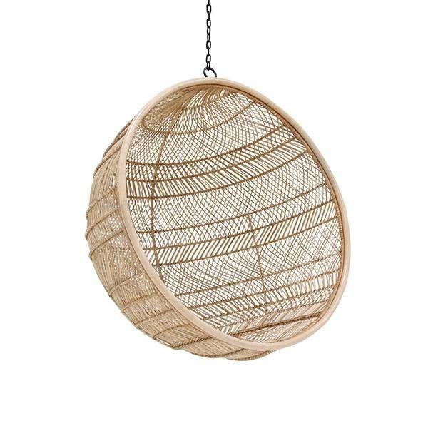 Hangstoel Bruin Egg.Hangstoel Bohemian Bal Naturel Bruin Rotan 108x108x83cm