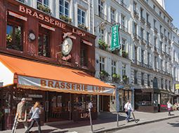 Brasserie Lipp- Traditional French Brasserie in the 6th. I had the Cod and my mom had the Sole and she enjoyed her fish more than I did, but we both still enjoyed the experience to sit on the porch while facing Cafe De Fleur and seeing many people pass by as we ate.