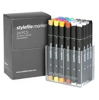 STYLEFILE MARKER - 24 SET A - GRAPHIC ART TWIN TIPPED PENS #STYLEFILE