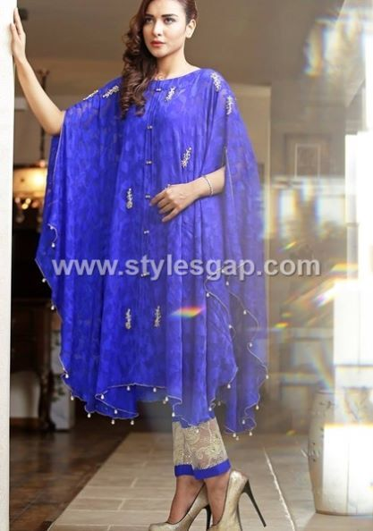 b8d7d7db0 Latest Pakistani Cape Style Dresses 2019-2020 Top Designer ...