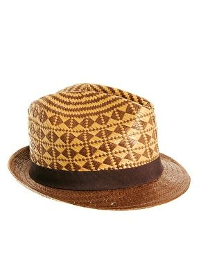 Ted Baker Straw Trilby Hat