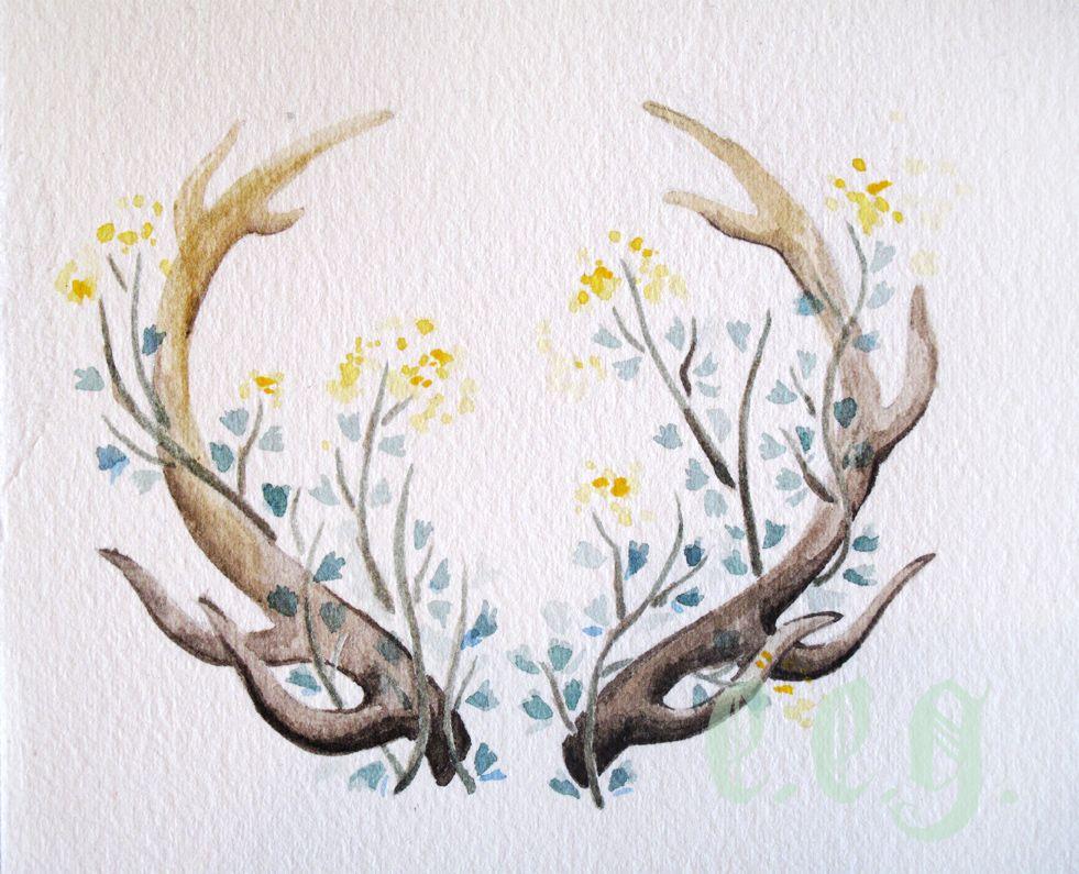 Floral Antler Tattoo: E.e.g. Creative Blog …