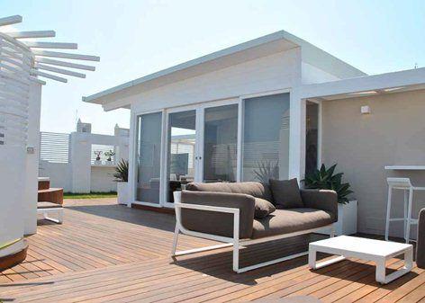 L obiettivo era di trasformare in terrazzo attrezzato il - Casa in legno su lastrico solare ...