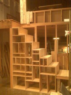 Stairs Shelves bedroom ladder loft - google search | stairs | pinterest | lofts