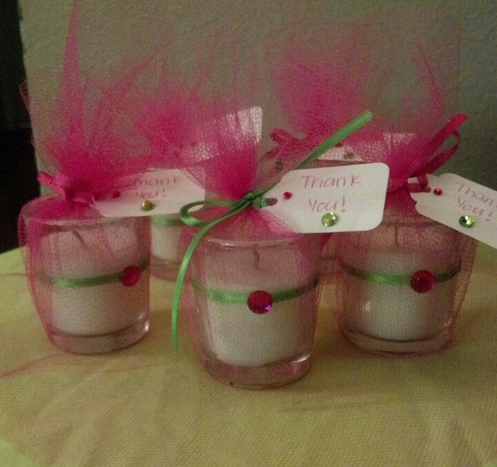 Baby shower candle favors princess theme preparativos for Preparativos para baby shower
