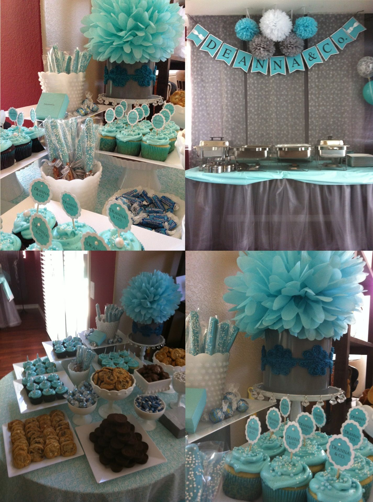 Tiffany Blue And Grey Baby Shower Party Ideas Pinterest Baby
