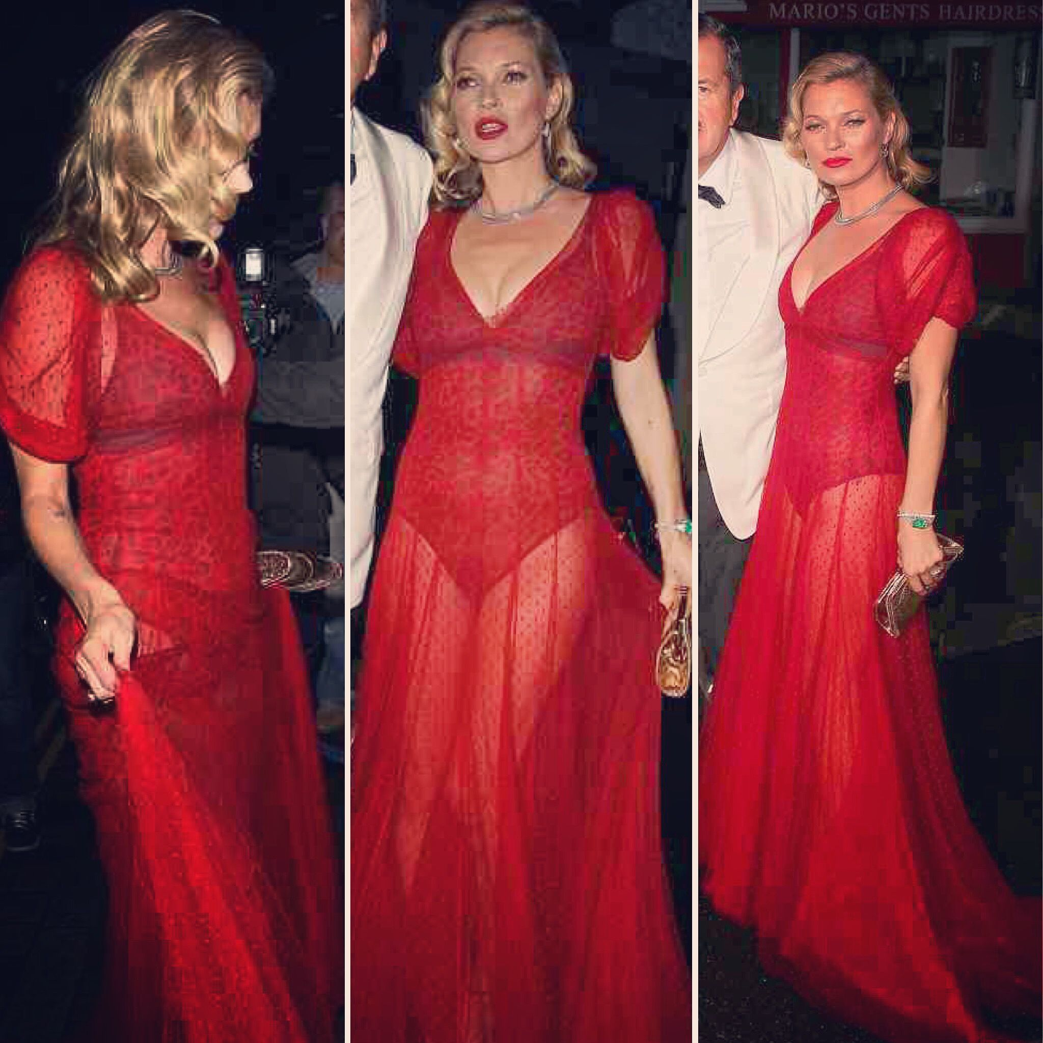 We're excited to say the iconic #halfpennylondon Spotty tulle dress seen here in Red on the epic and gorgeous #katemoss is available in the next collection in Ivory as a wedding dress or bespoke orders in other colours. It's lined of course for your wedding. That is unless you're rock and roll enough to wear it with a leopard print body underneath like Kate did. #bridalstyle #weddingdress #wedding | Halfpenny London on Instagram | Bridal Fashion by Kate Halfpenny