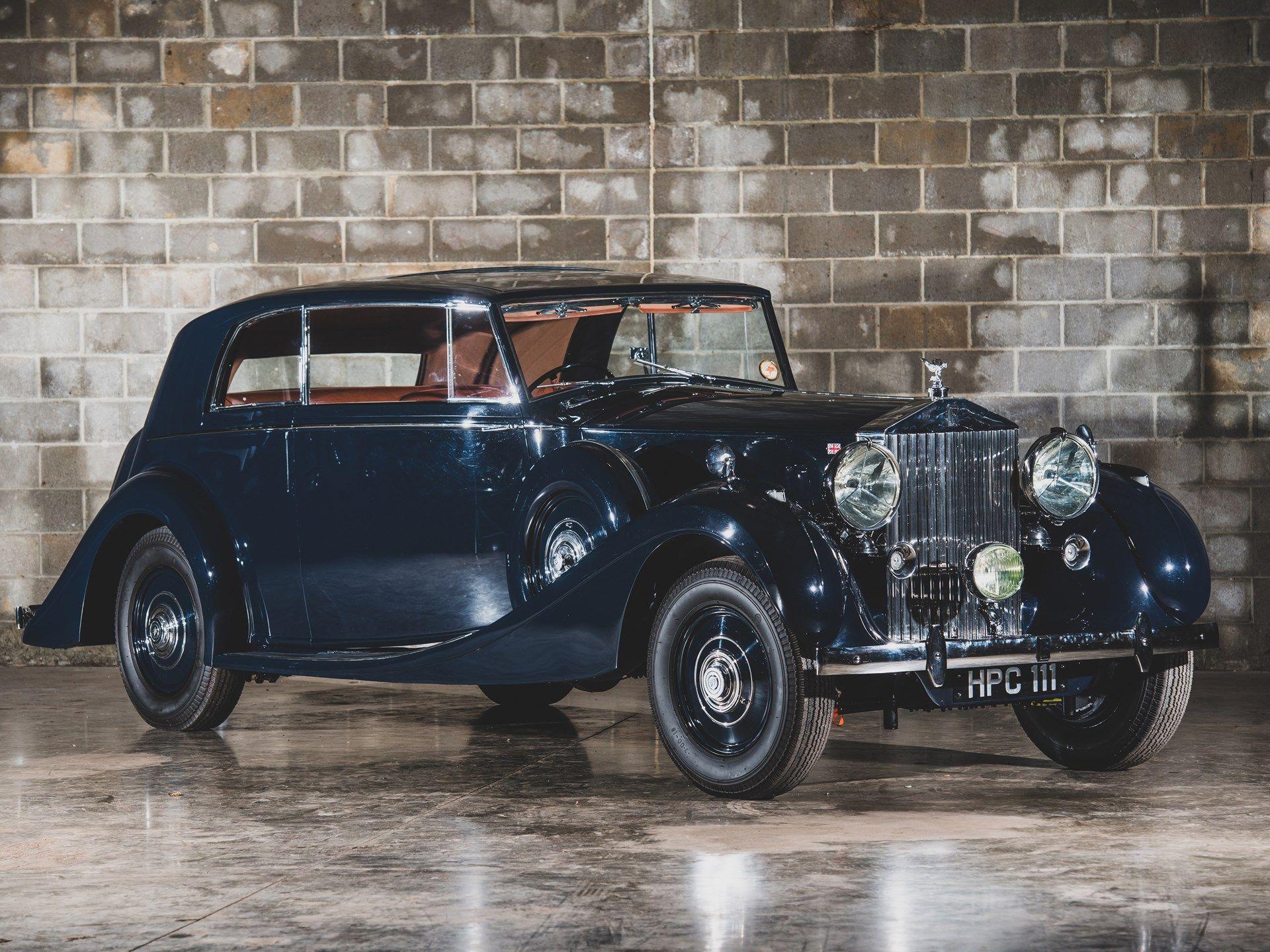 1938 Rolls Royce Phantom Iii Parallel Door Saloon Coupe By James