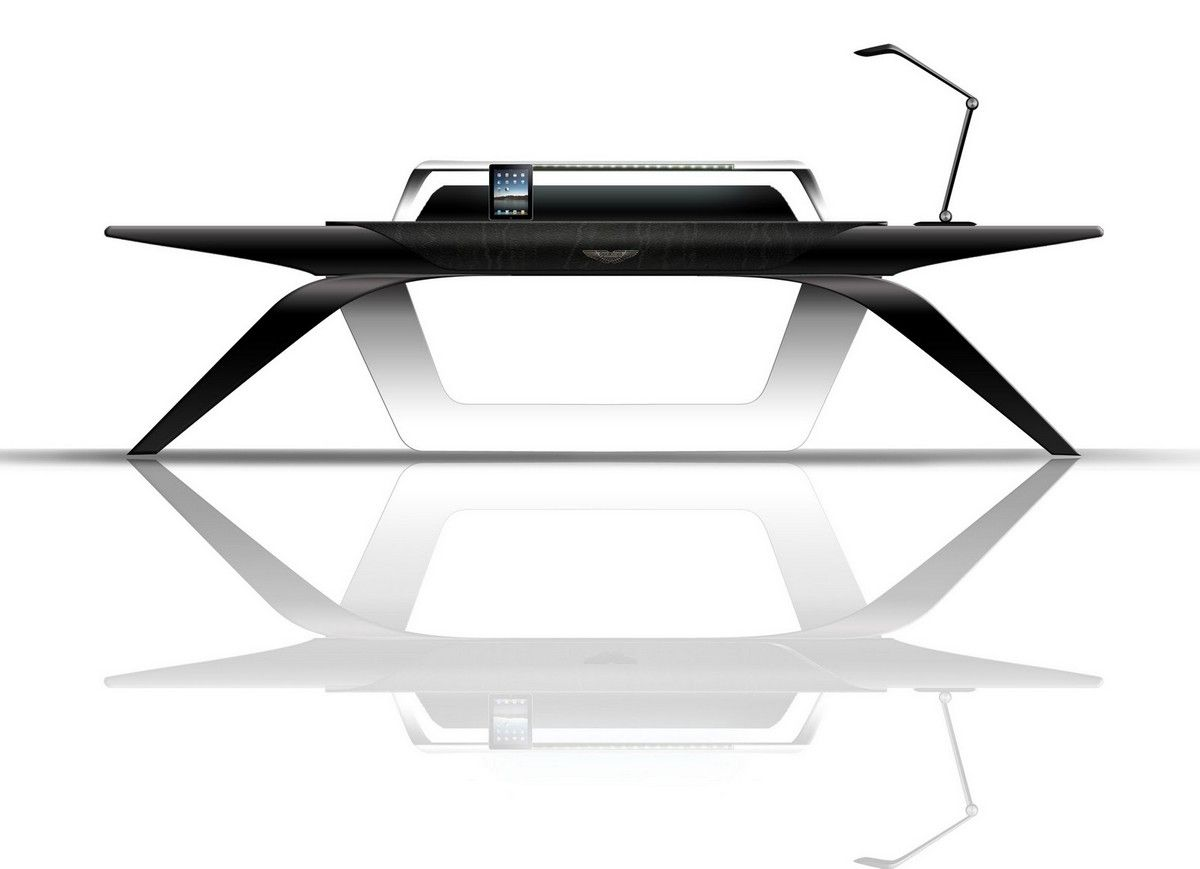 Functional graceful and elegant the Aston Martin Office Desk by