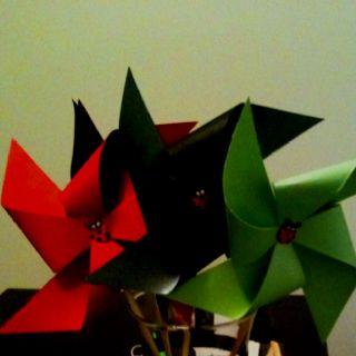 My ladybug pinwheels