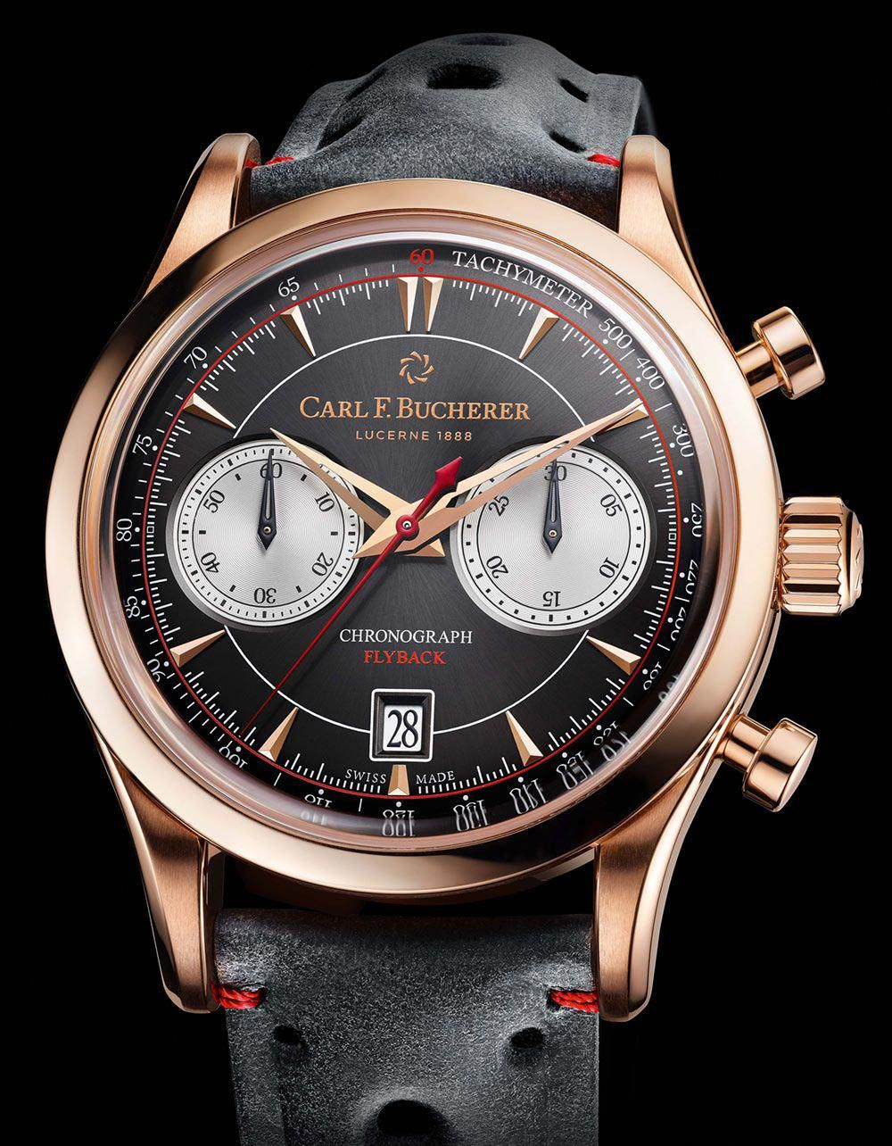 c815711b95f Carl F. Bucherer Manero Flyback Rose Gold Watch  mensluxurywatchesfashion