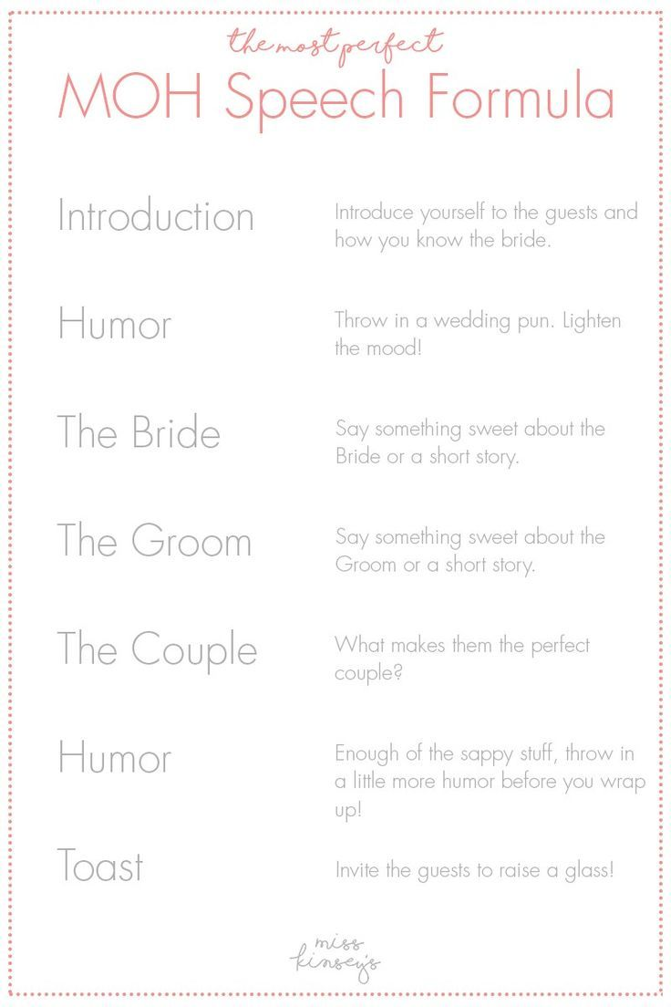 Image Result For How To Write Maid Of Honor Speech Wedding