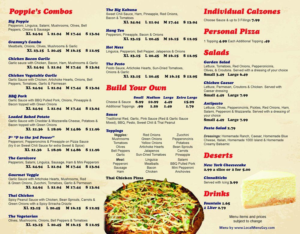 Restaurant To-Go Menu Graphic Design Services for Pizza Restaurant - restaurant to go menu