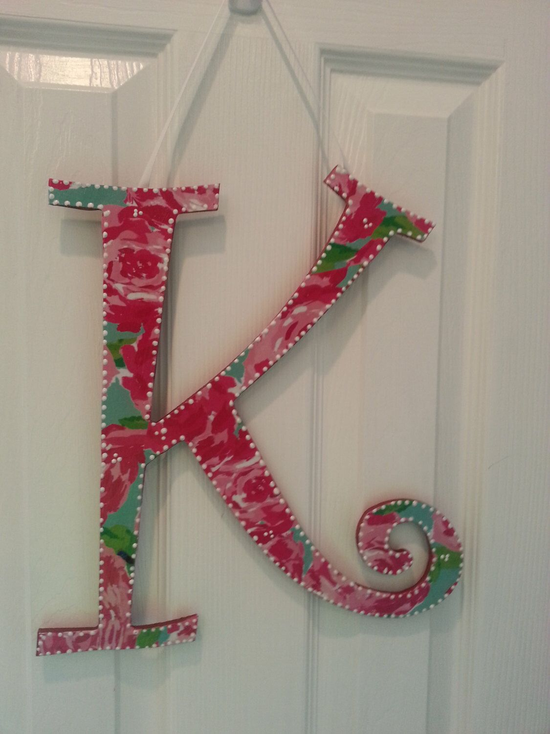 Lilly Pulitzer Letters MONOGRAM Script Large -YOU PICK pattern and ...