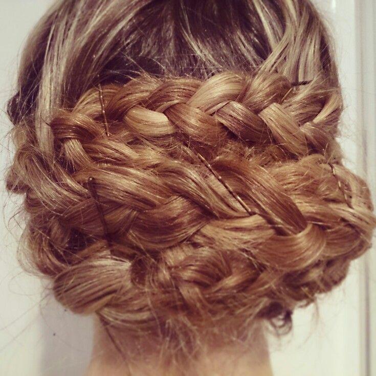 Braided hair up do style!