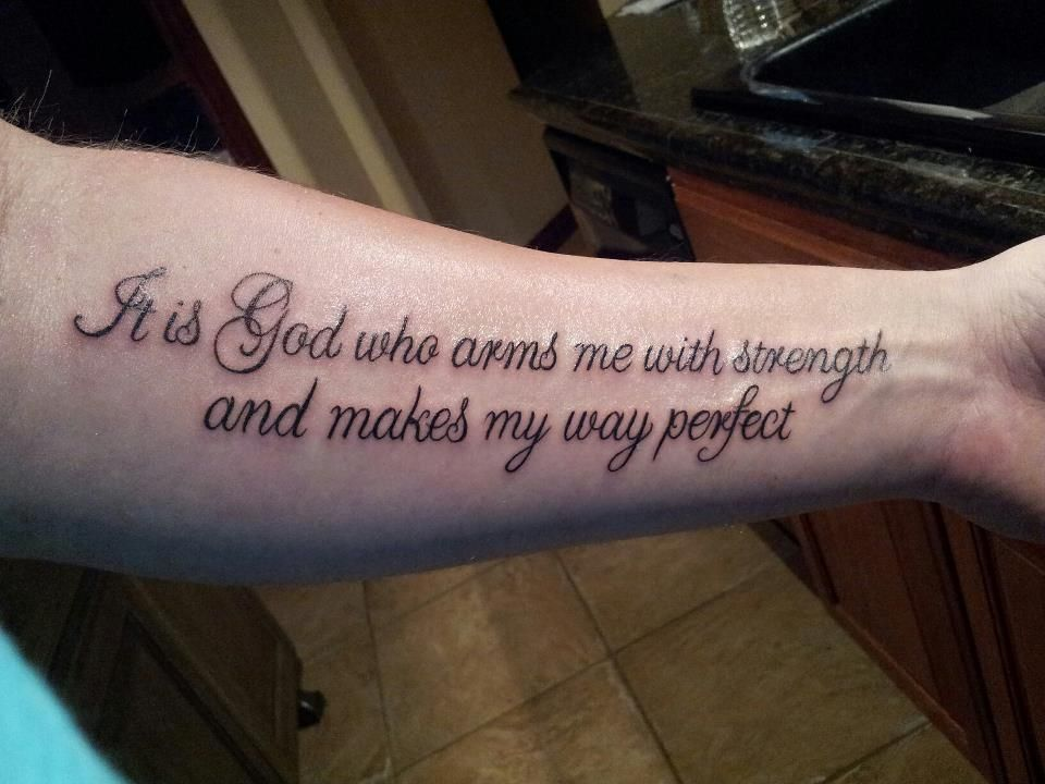 Psalm 27 tattoos for men lastly for now and my most for Scripture tattoos for men on arm