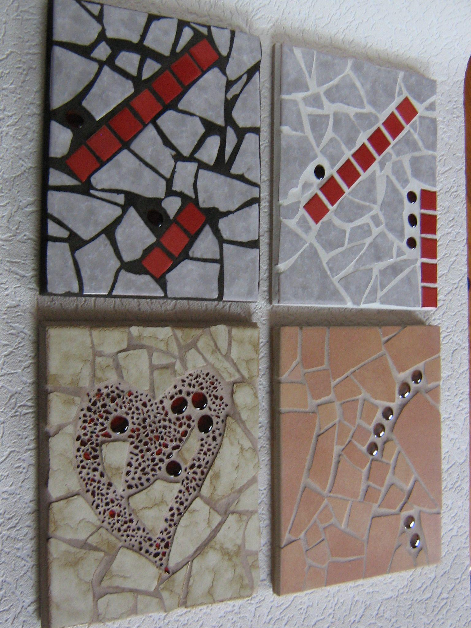 topfuntersetzer mit mosaik aus fliesen und glassteinen mosaic pinterest topfuntersetzer. Black Bedroom Furniture Sets. Home Design Ideas