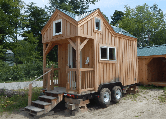 Porch Tiny House Trailers Design Ideas
