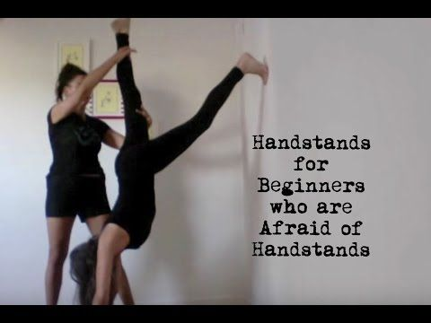 yoga handstands for beginners who are afraid of handstands