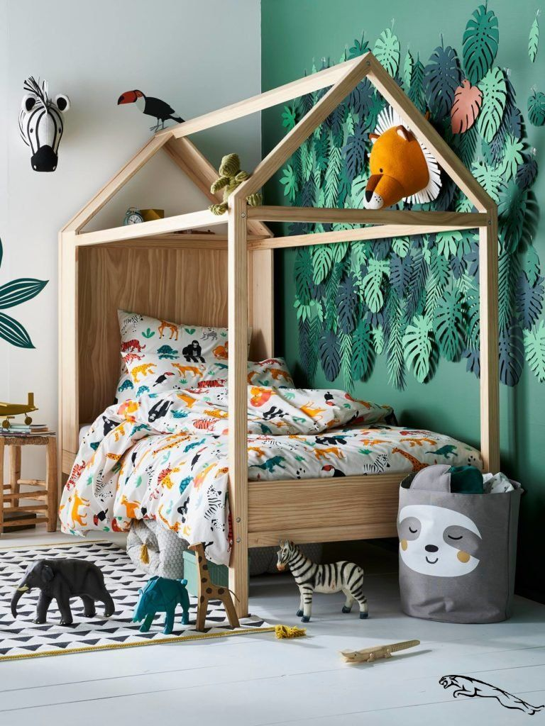 Idée déco chambre enfant : une chambre jungle  Decorar habitacion