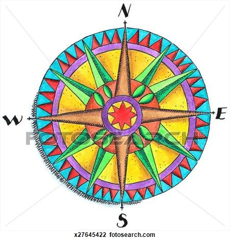 Compass Rose Clip Art (10757) | compass rose | Pinterest | Compass ...