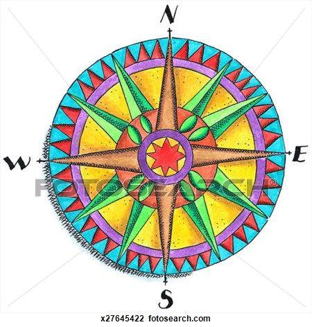 Compass Rose Clip Art (10757) | compass rose | Pinterest | Compass ...