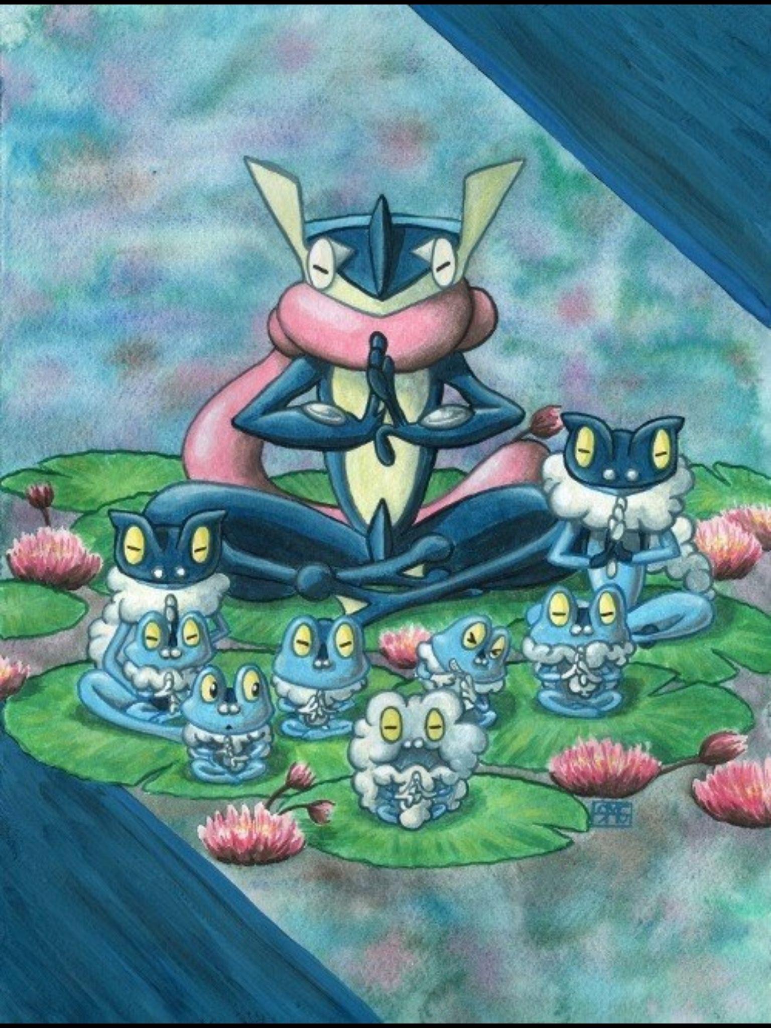 froakie frogadier and greninja pokemon pinterest fotos de