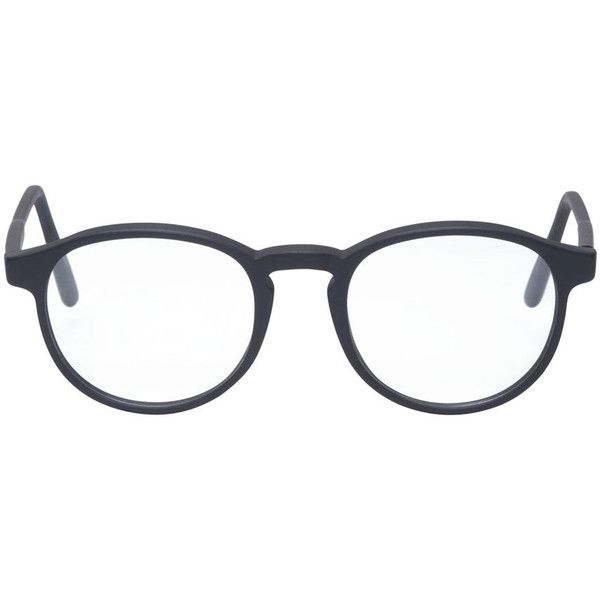 Super Black Matte 01 Bureau Glasses ($165) ❤ liked on Polyvore featuring accessories, eyewear, eyeglasses, glasses, sunglasses, lunettes, black eyeglasses, retrosuperfuture glasses, retrosuperfuture и black clear glasses