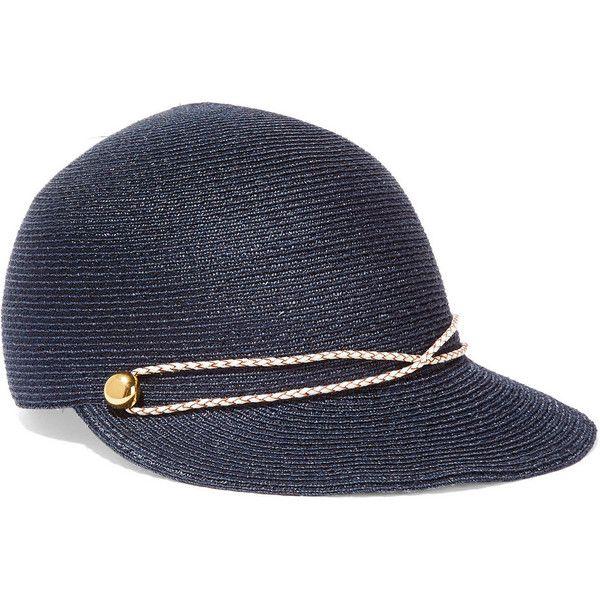 6d607a0de4e Eugenia Kim Joey faux leather-trimmed woven hemp cap ( 245) ❤ liked ...