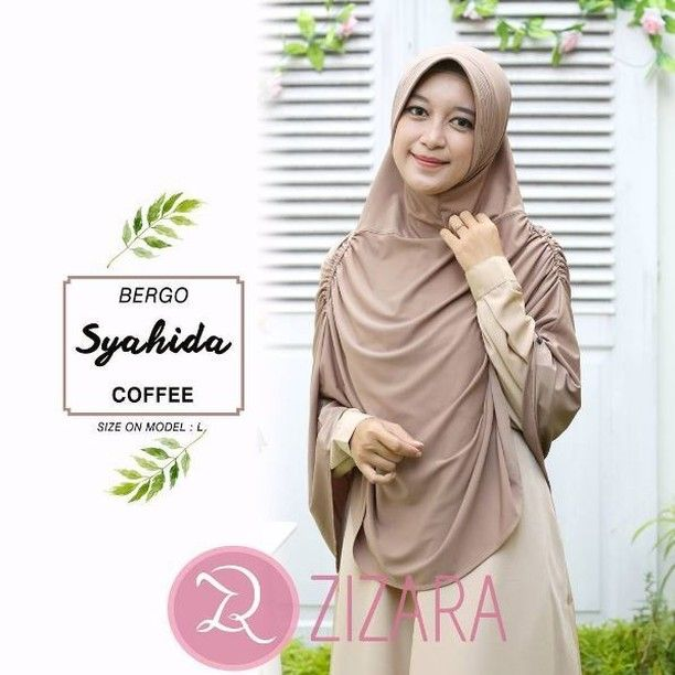 Khimar Zizara Bergo Syahida Coffee Hijab Kerudung Khimar Jilbab Syari Kini Hadir Untukmu Yang Cantik Syari Dan Trendy Bahan Kerudung Jahit Baju Muslim