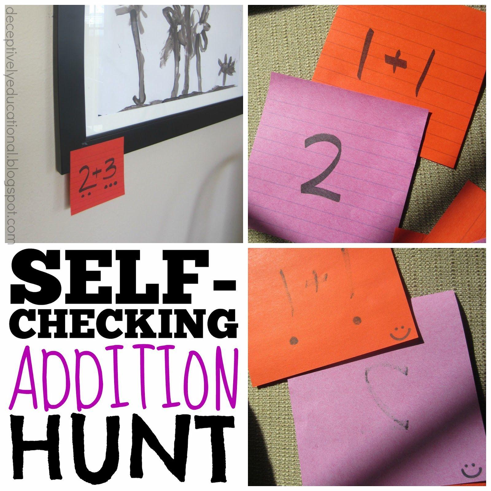 Self Checking Addition Hunt